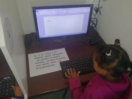 Grade R Learning Computer Skills