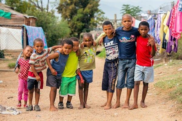Rural childrenOn Goedgedacht Farm in South Africa